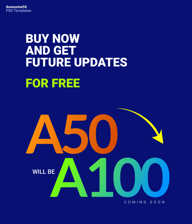 Awesome50 | A Wholesale Collection of 50 Multi Business Landing Pages and Home Pages PSD Template - 6