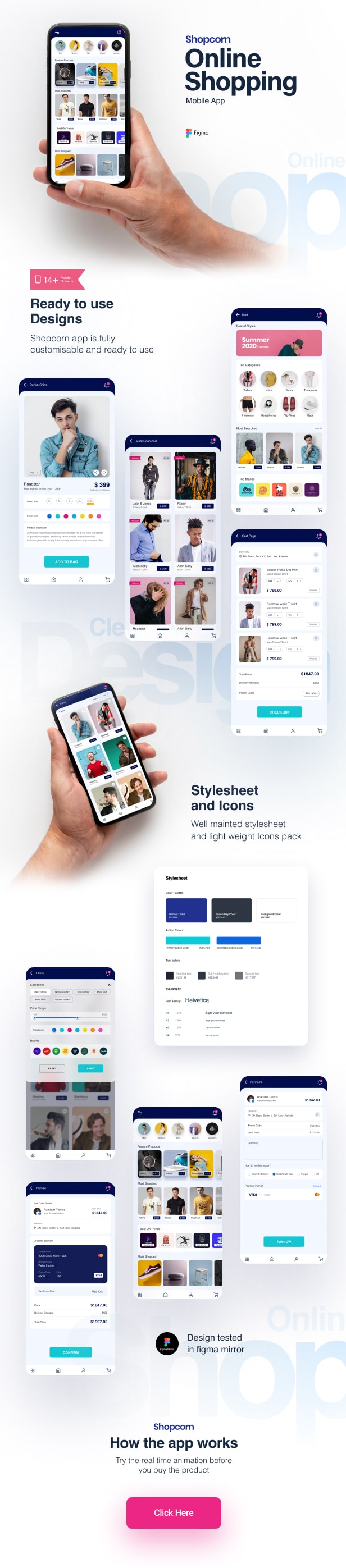 Shopcorn | Online Shopping Mobile Template - 1